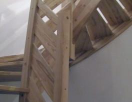 Balustrada-drewniana, 2 deski poziomo