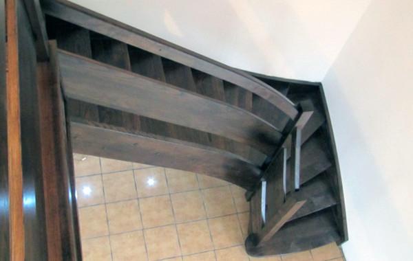 Balustrada-drewniana, deska poziomo