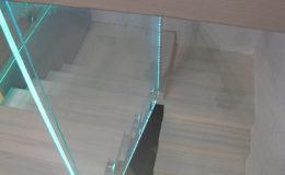 Schody-Q jesion bielony balustrada szyba dokrecana Grudziadz (10)