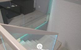 Schody-Q jesion bielony balustrada szyba dokrecana Grudziadz (11)