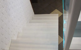 Schody-Q jesion bielony balustrada szyba dokrecana Grudziadz (6)