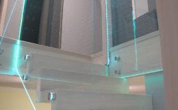 Schody-Q jesion bielony balustrada szyba dokrecana Grudziadz (8)