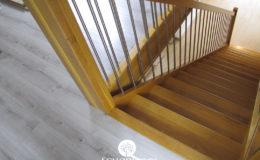Schody Q.pl Sochaczew Debowe proste , balustrada inox 16mm (6)